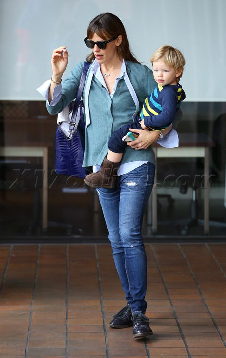 Jennifer Garner takes Samuel to Kidville for a fun-filled day